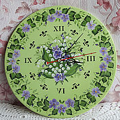 Для дома и интерьера handmade. Livemaster - original item Clock with painting,