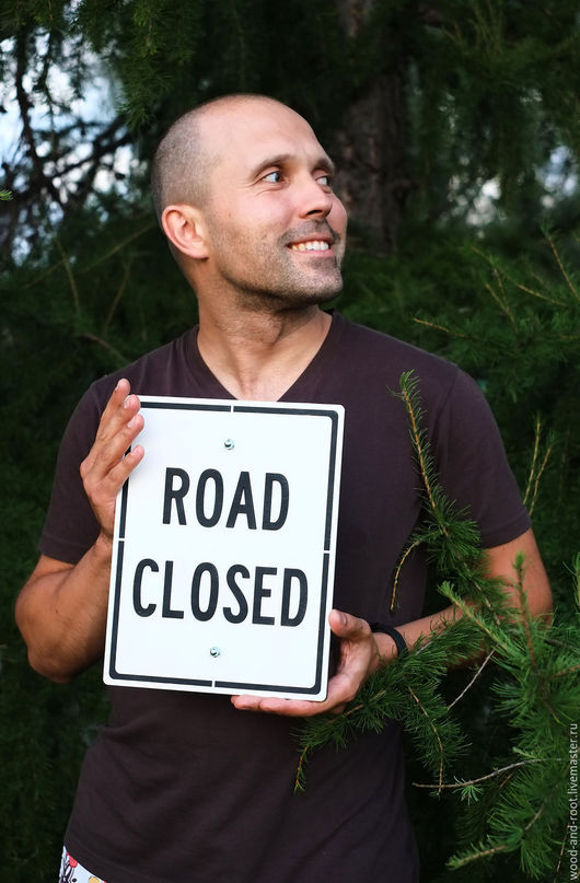 Интерьерные слова ручной работы. Ярмарка Мастеров - ручная работа. Купить Дорожный знак Road Closed. Handmade. Разноцветный, дорога