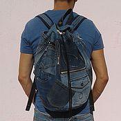 Сумки и аксессуары handmade. Livemaster - original item Denim backpack Khayfa. Handmade.