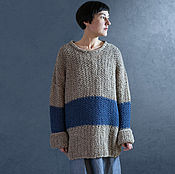 Одежда ручной работы. Ярмарка Мастеров - ручная работа Свитер оверсайз ваби-саби. Handmade.