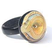 """Украшения ручной работы. Ярмарка Мастеров - ручная работа Лэмпворк кольцо """"Пески времени"""" размер 17. Handmade."""