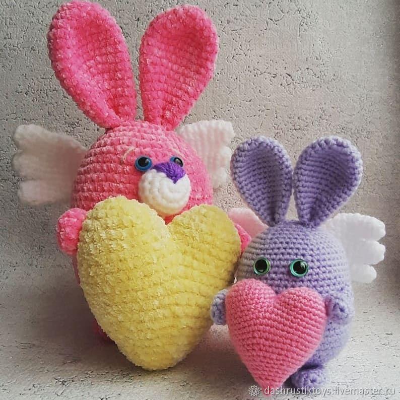 Зайка-валентинка, Мягкие игрушки, Саратов,  Фото №1