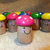 Куклы и игрушки handmade. Livemaster - original item Wooden toy counting material Fun gribat 12 PCs. Handmade.
