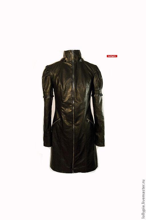 """Верхняя одежда ручной работы. Ярмарка Мастеров - ручная работа. Купить Пальто """"Leather 2"""". Handmade. Черный, кожа, плащ"""
