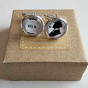 Украшения handmade. Livemaster - original item Cufflinks silver plated Sherlock. Handmade.