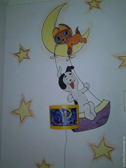 Детская ручной работы. Ярмарка Мастеров - ручная работа. Купить котенок Гав. Handmade. Роспись стен, мультфилм, акриловые краски