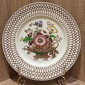 Винтажные тарелки ручной работы. Ярмарка Мастеров - ручная работа Красивая большая тарелка, Myott Son &Co, Англия. Handmade.