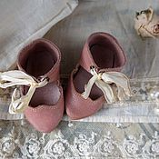 Куклы и игрушки ручной работы. Ярмарка Мастеров - ручная работа Аврора (туфли для антикварной куклы). Handmade.