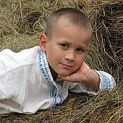 People\\\`s shirts handmade. Livemaster - original item Russian costume for a boy. Handmade.