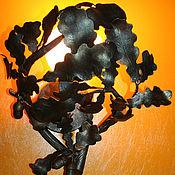 """Для дома и интерьера ручной работы. Ярмарка Мастеров - ручная работа Кованый светильник - бра """" Дуб"""". Handmade."""