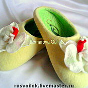 Обувь ручной работы handmade. Livemaster - original item ladies Slippers