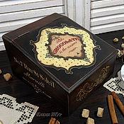 """Для дома и интерьера ручной работы. Ярмарка Мастеров - ручная работа """"Chocolate"""" короб, шкатулка. Handmade."""