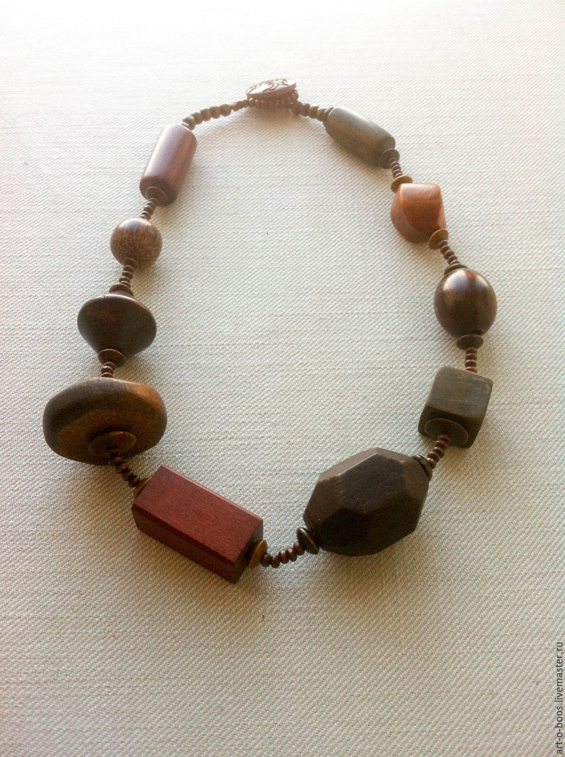 """Necklace """"Wooden jewels"""", Necklace, Moscow,  Фото №1"""