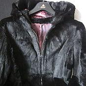 (4-к-я ) Курточка женская мех кролик стриженный р 46-48 Винтаж