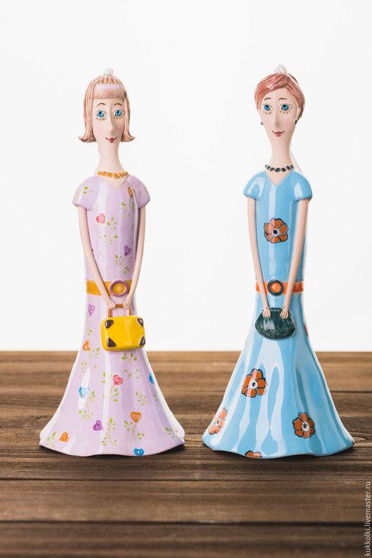 """Коллекционные куклы ручной работы. Ярмарка Мастеров - ручная работа. Купить Кукла-колокольчик """"Девушка в платье с цветами"""". Handmade. Комбинированный"""