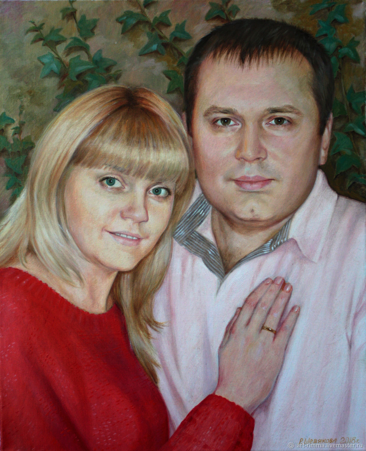 The portrait on the Anniversary. Oil on canvas, Pictures, Moscow,  Фото №1