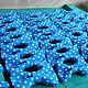 Галстуки, бабочки ручной работы. Галстук бабочка Freeman / синяя бабочка-галстук в крупный горошек. Respect Аксессуары. Ярмарка Мастеров.