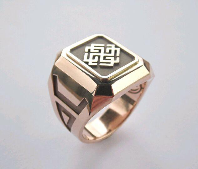 Славянский перстень для Богатыря с оберегами. Изготовлен из золота 585, Украшения, Киев, Фото №1