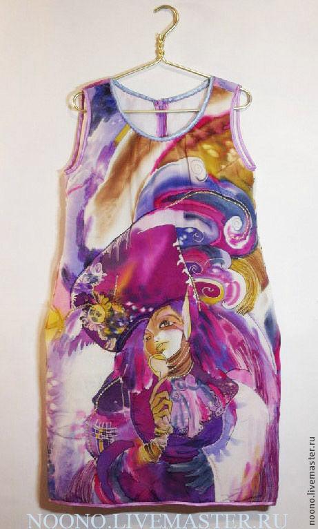 """Платья ручной работы. Ярмарка Мастеров - ручная работа. Купить Стеганное платье из батика """"MiSS you"""". Handmade. Платье батик"""