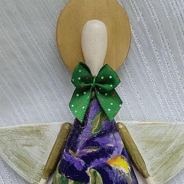 Для дома и интерьера ручной работы. Ярмарка Мастеров - ручная работа Деревянный ангелочик Ирис. Handmade.