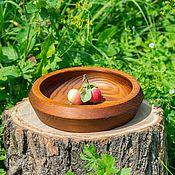 Для дома и интерьера handmade. Livemaster - original item Wooden Plate made of Siberian pine 210#29. Handmade.
