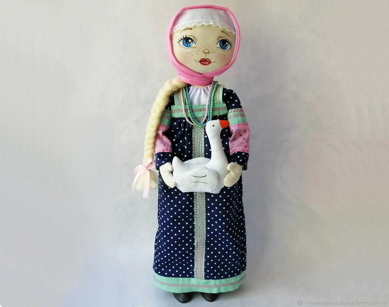 Девушка с гусем, Народная кукла, Усть-Каменогорск,  Фото №1