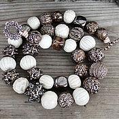 Necklace manualidades. Livemaster - hecho a mano Beads ceramics