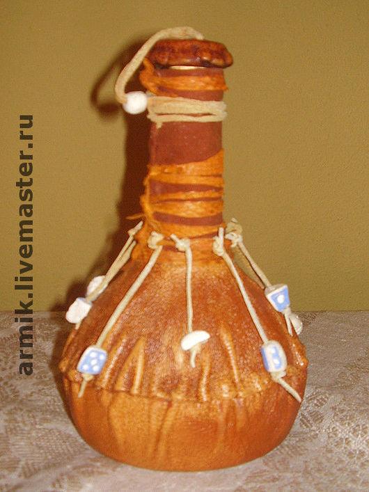 """Подарки для мужчин, ручной работы. Ярмарка Мастеров - ручная работа. Купить Сувенирная бутылка """"Зелье шамана"""". Handmade. Оранжевый, подарок"""