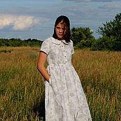 Одежда handmade. Livemaster - original item Linen loose dress