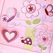 Для дома и интерьера ручной работы. Ярмарка Мастеров - ручная работа Детское одеяло Бабочки-цветочки.... Handmade.
