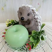 Косметика ручной работы handmade. Livemaster - original item Soap Hedgehog with Apple. Handmade.