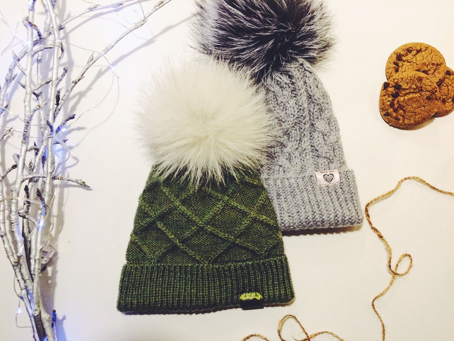Knitted hat with pompons and without, in various embodiments, Caps, Moscow,  Фото №1
