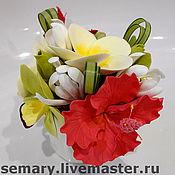 Цветы и флористика ручной работы. Ярмарка Мастеров - ручная работа Тропическая вазочка. Handmade.