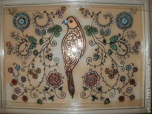 Фантазийные сюжеты ручной работы. Ярмарка Мастеров - ручная работа. Купить Шамаиль с птицей. Handmade. Разноцветный, шамаиль, ручная работа