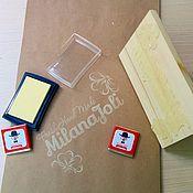 Материалы для творчества ручной работы. Ярмарка Мастеров - ручная работа Штамп/печать с логотипом мастера. Handmade.