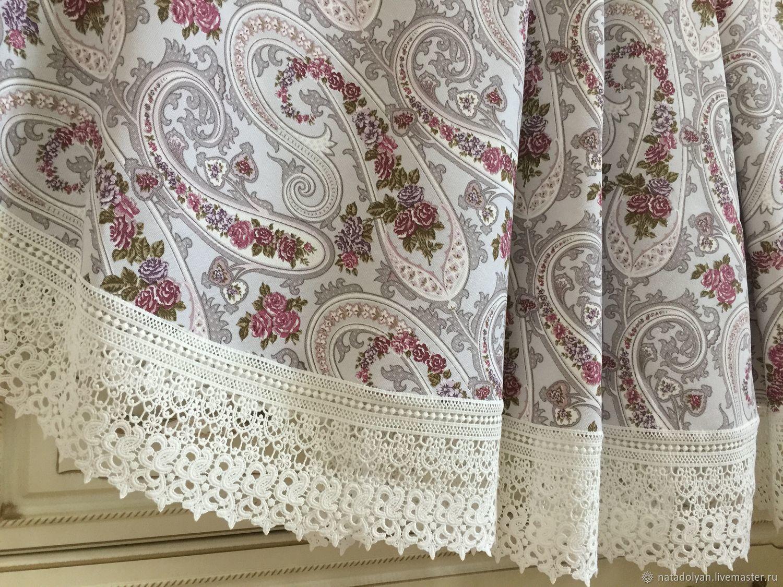 Tablecloth cotton 'Jewel of Kashmir' round, Tablecloths, Ivanovo,  Фото №1