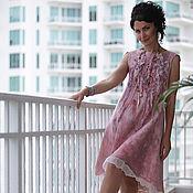 """Одежда ручной работы. Ярмарка Мастеров - ручная работа платье из шелка и шерсти """"Лепестками роз 2"""". Handmade."""