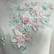 Материалы для творчества handmade. Livemaster - original item Luxury 3D applique with beads for prom dress. Monica 2. Handmade.