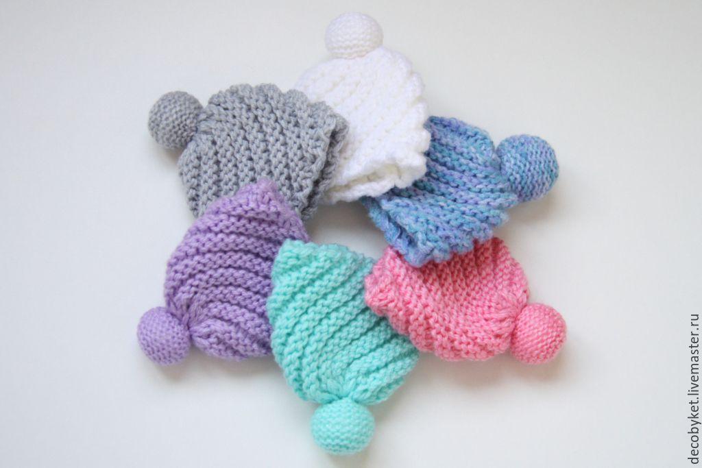 вязаная шапочка для куклы