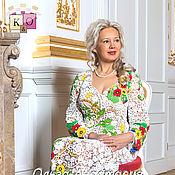 """Русский стиль ручной работы. Ярмарка Мастеров - ручная работа Ирландское кружево платье """"Королеве Людмиле"""",авторская работа. Handmade."""