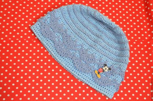 Одежда для девочек, ручной работы. Ярмарка Мастеров - ручная работа. Купить вязаная шапочка. Handmade. Шапочка крючком, нити ирис