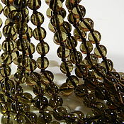 handmade. Livemaster - original item Rauchtopaz beads smooth ball(2). PCs. Handmade.