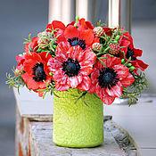 Цветы и флористика handmade. Livemaster - original item Red anemones. Handmade.