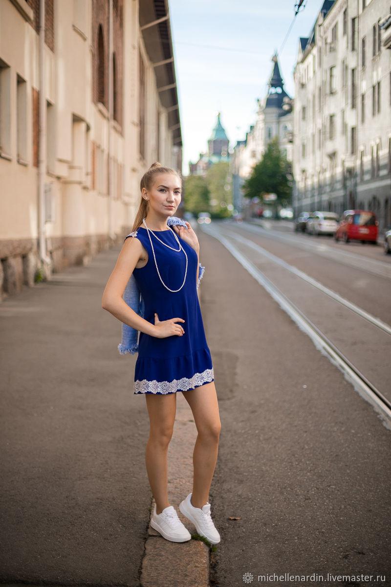 Viscose dress with a flounce, Dresses, St. Petersburg,  Фото №1