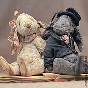 Куклы и игрушки ручной работы. Ярмарка Мастеров - ручная работа Кролики вислоухие: Карлуша и Лёлька. Handmade.