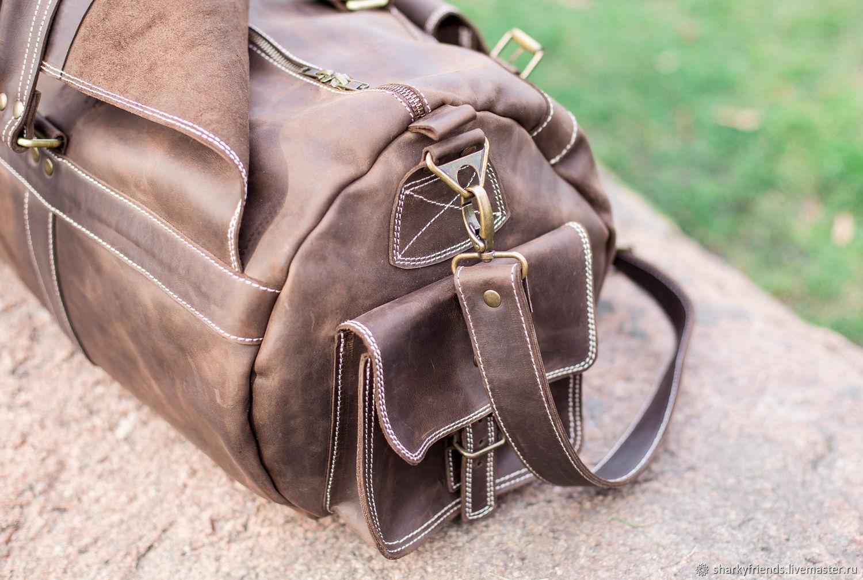 dca9dab96ce7 Купить Большая кожаная сумка БИЗОН Мужские сумки ручной работы. Большая кожаная  сумка БИЗОН. Дорожная сумка из коричневой кожи.