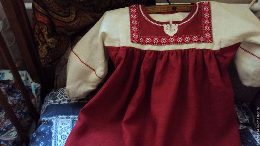 Одежда ручной работы. Ярмарка Мастеров - ручная работа. Купить Детское платье бордовое. Handmade. Бордовый, славянское платье