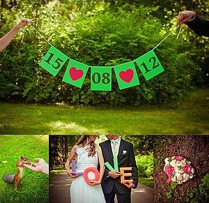 Дата на свадьбу своими руками 36