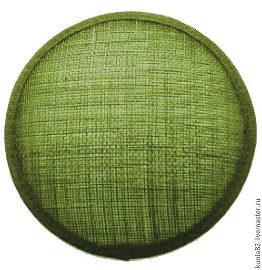 Основа для шляпки, вуалетки, синамей, диаметр 11 см. Цвет: ЗЕЛЕНЫЙ, полуфабрикат для изготовления шляп и головных уборов. Анна Андриенко. Ярмарка