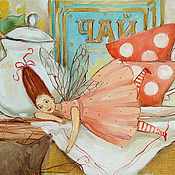 Картины и панно ручной работы. Ярмарка Мастеров - ручная работа Вечерний чай.АКЦИЯ. Handmade.